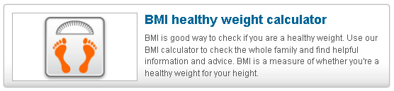 BMI Healthy Weight Calculator BMI is good way to check if you are a healthy weight. Use our BMI Calculator to check the whole family and find helpful information and advice. BMI is a measure of whether you're a healthy weight for your height.