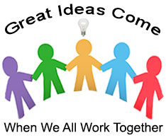 Great ideas come when we call work together